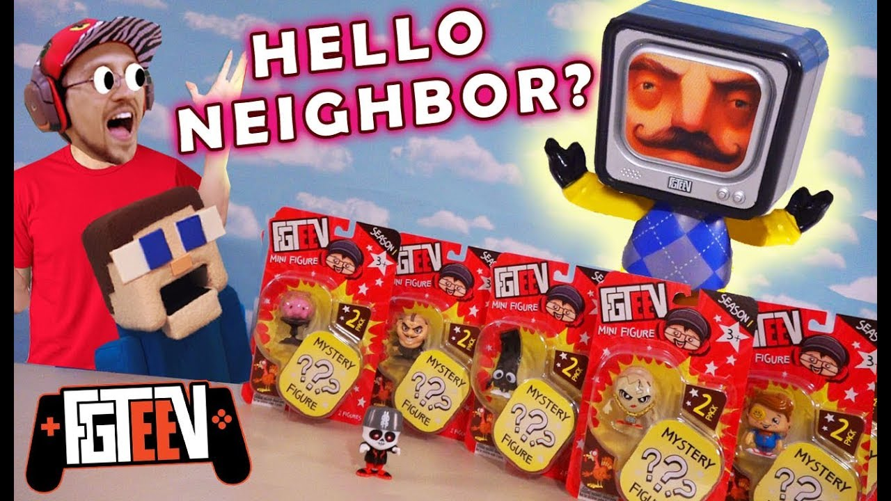 Hello Neighbor Invades Fgteev Season 2 Toys Puppet Steve Faints