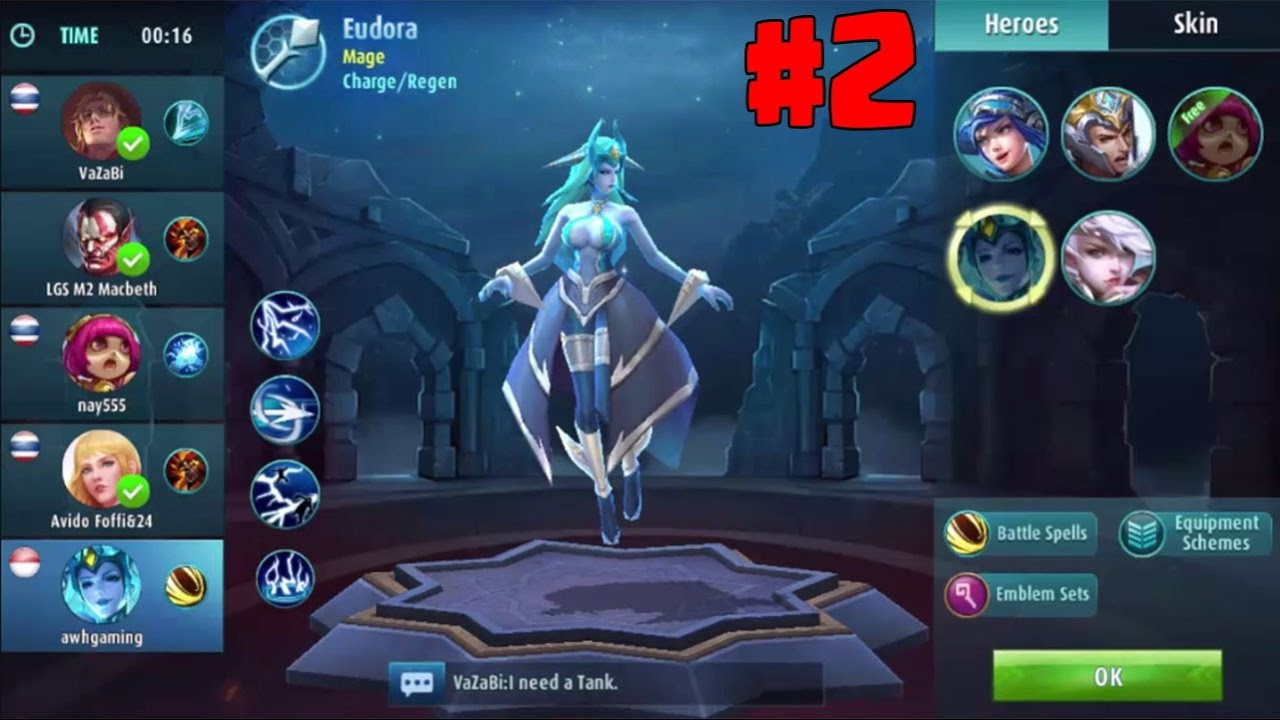 ranked gameplay) mobile legend : bang bang #2 | play eudora