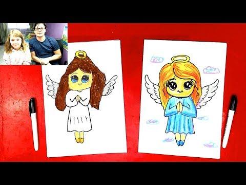 Рисуем АНГЕЛА с КАТЕЙ / Урок рисования для детей: как нарисовать Ангела