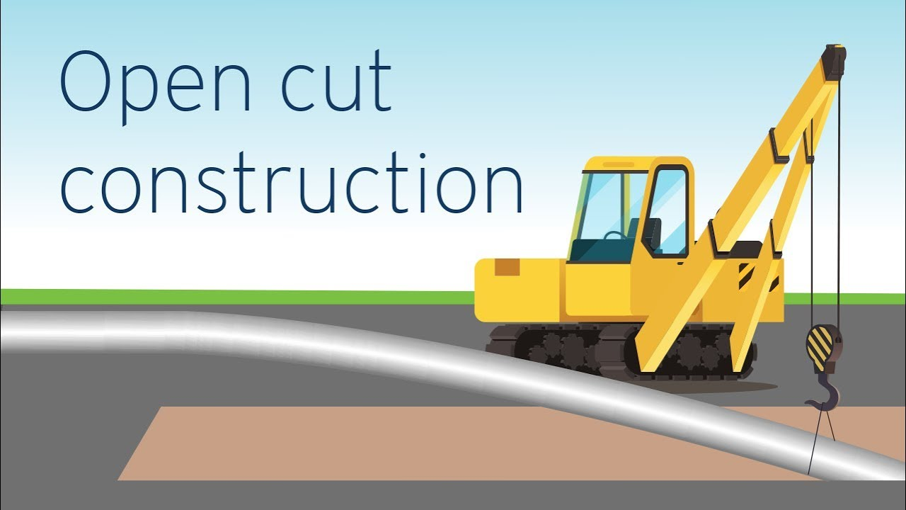 Open cut construction: the most common and efficient method   FortisBC