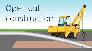 Open cut construction: the most common and efficient method | FortisBC