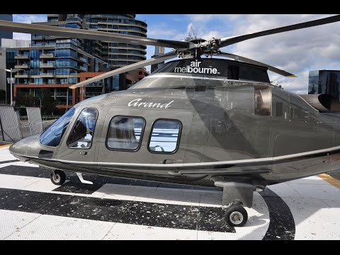 Air Melbourne AW-109S Grand - Flight from Melbourne Tullamarine (MEL) to City Heliport (KAH)