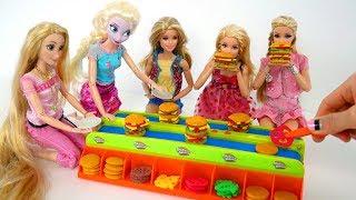 Burger Mania Board Game with Barbie dolls Hamburger mainan permainan Burger Brinquedo Jogo