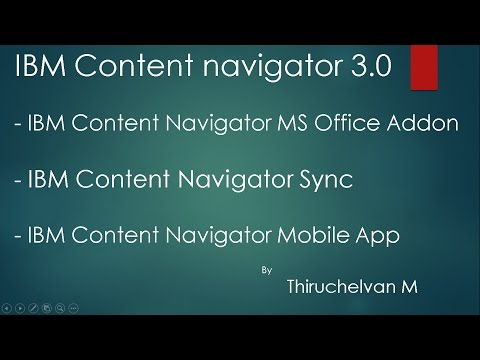 IBM Content Navigator MS office Addon, Sync and Mobile App