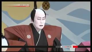 The first kabuki performance of the year at the famous Kabukiza The...
