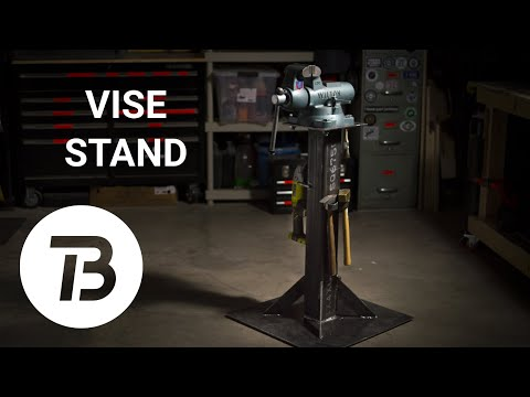 DIY Bench Vise Stand with Storage