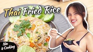 HOW TO COOK THAI FRIED RICE - KHAO PAD MOO (ข้าวผัดหมู) - WITH NIN