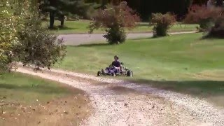15 HP 5-Speed Go Kart- Driving And Shifting!