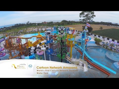Cartoon Network Amazone Water Park in Pattaya, Thailand