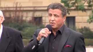 Creed Philadelphia Proclamation - Sylvester Stallone, Michael B. Jordan & Tessa Thompson Interviews