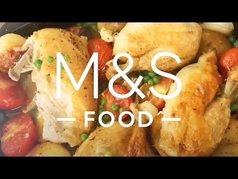 Chris' All-In-One Midweek Roast Chicken Traybake   M&S FOOD