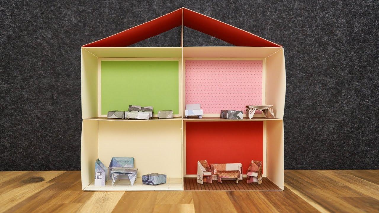 geschenk hochzeit geld haus basteln anleitung. Black Bedroom Furniture Sets. Home Design Ideas