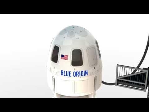 New Shepard Capsule Escape Animation