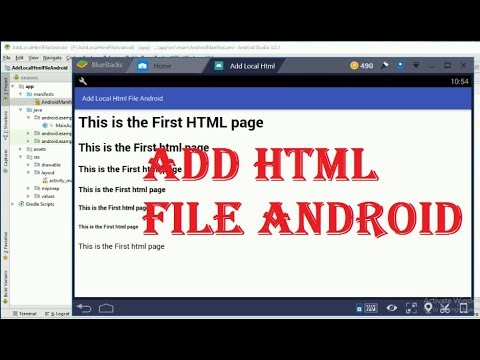 How to add local html file in android studio 3  0 programmatically