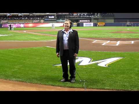 Joel Kopischke sings National Anthem @ Brewers NLCS October 10, 2011