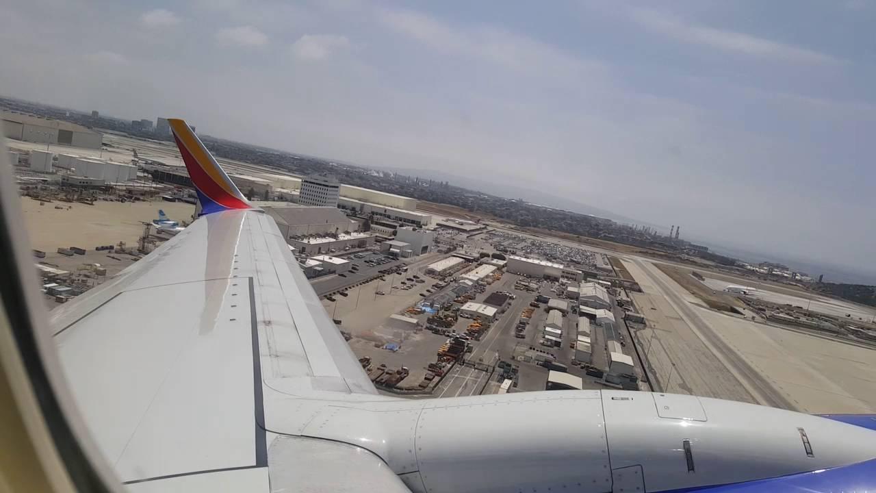 Southwest Airlines- 737-700- departing Los Angeles (lax) to Las Vegas  (las)