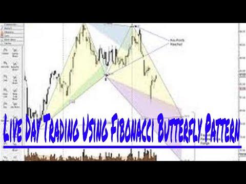 Live Day Trading Using Fibonacci Butterfly Pattern