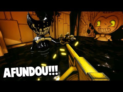 O BENDY AFUNDOU!!! ENCHI DE TINTA O ESTÚDIO DE BENDY!!! (HACK) | Bendy and The Ink Machine