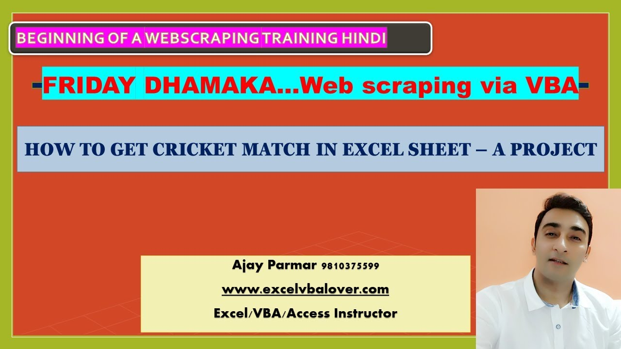 Repeat Import world cup match details in Excel - VBA Web