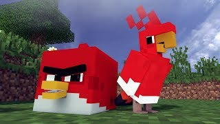 The REAL Angry Birds In Minecraft!? - [ Minecraft Animation ]