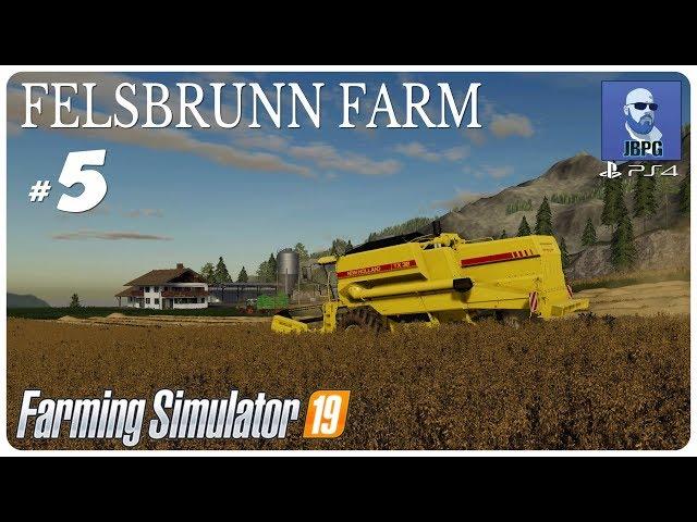 FS19 PS4: Felsbrunn Farm - Episode 5: Harvesting Our Crops...
