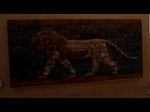 The Lion of Persia, Iran National Flag Louvre Paris