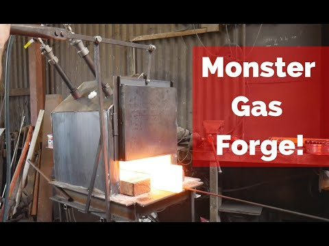 MONSTER FORGE BUILD!!! Building an Industrial size gas forge!