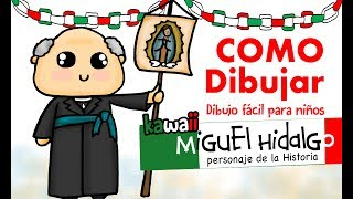 Como dibujar a el cura Hidalgo / How to draw Miguel Hidalgo
