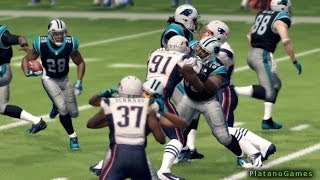 NFL 2013 MNF Week 11 - New England Patriots vs Carolina Panthers - 1st Qrt - Madden NFL 25 - HD