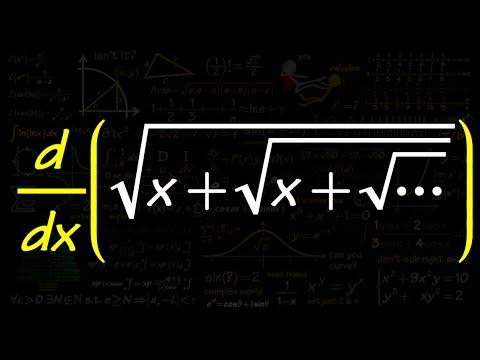 derivative of sqrt(x+sqrt(x+sqrt(x+...))), infinite nested square root