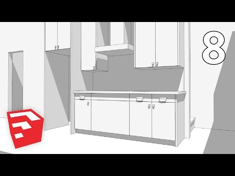 KITCHEN CABINETS - Dramatic Contemporary House Pt. 8