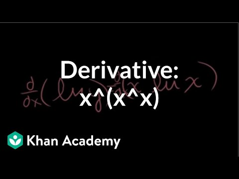 Derivative of x^(x^x) | Taking derivatives | Differential Calculus | Khan Academy