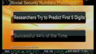 Social Security Numbers May Be Had Form Facebook - Bloomberg