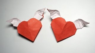 This is my most perfect origami winged heart ever ! This tutorial i...