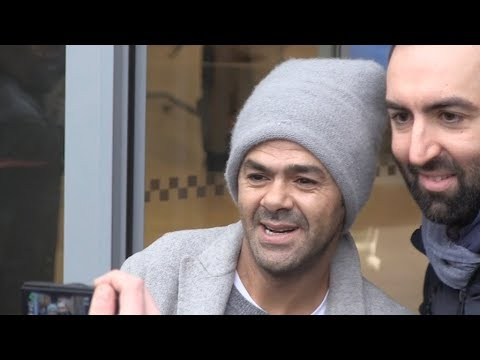 EXCLUSIVE : Jamel Debbouze coming out of RTL radio station in Paris