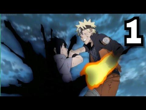 Naruto vs Sasuke Shippuden Final Full fight Part 1 scene Hd