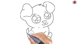 How to Draw a Cute Puppy Easy Step By Step Drawing Tutorials for Kids – UCIDraw