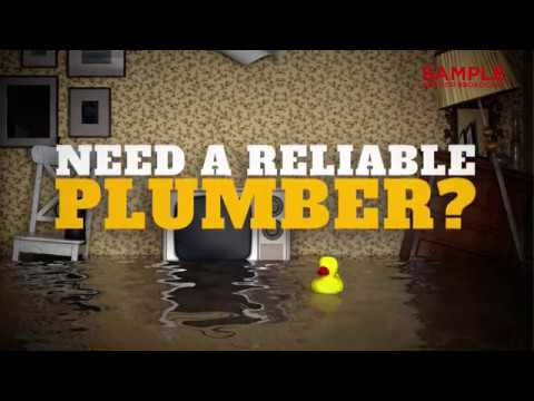 Plumbing Services - Reliable Plumber Digital Signage