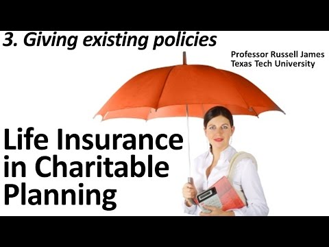 Life Insurance in Charitable Planning 3: Giving Existing Policies