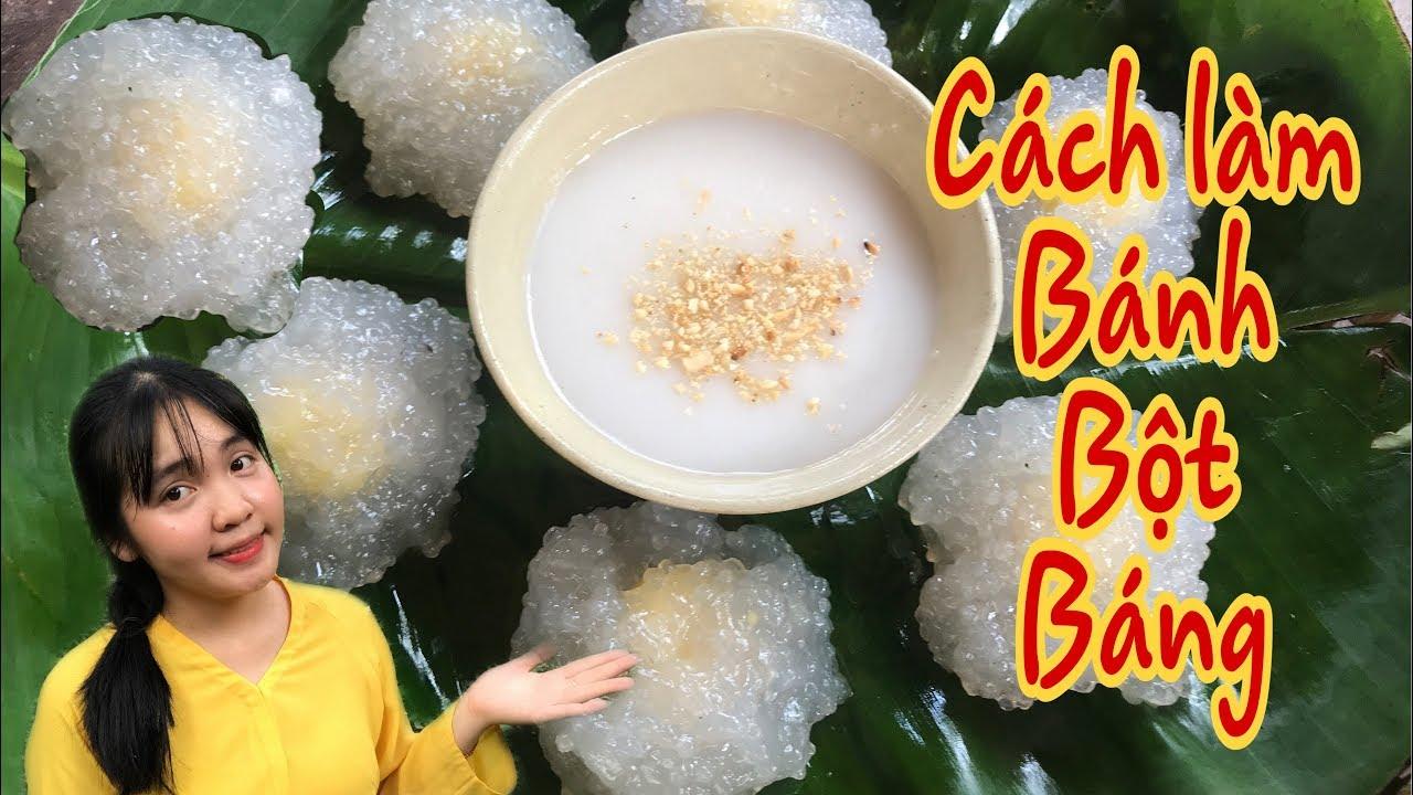 Cách làm bột báng nước cốt dừa |  Huỳnh Như Vlogs