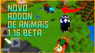 SAIU!!! NOVO ADDON DE ANIMAIS PARA MINECRAFT PE 1.14 1.15 E 1.16 (Beta)