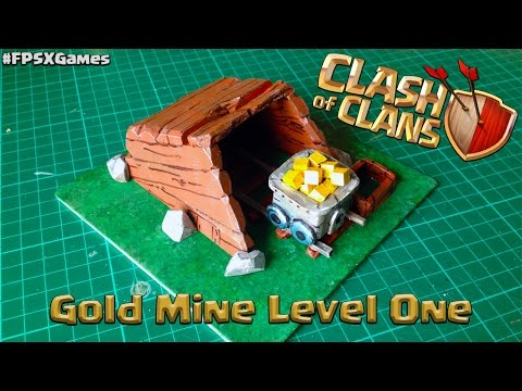 Clash of Clans Gold Mine Level One Model