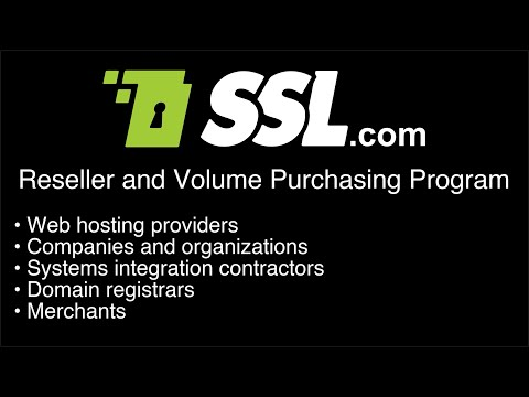 SSL.com's Reseller and Volume Purchasing Program