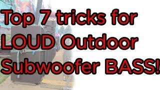 Top 7 tricks for LOUD Outdoor Subwoofer BASS! Revealed! screenshot 4