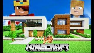 Minecraft Construção: DUAS CASAS MODERNAS [ Ficaram Show de Bola ]