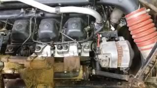 Работа двигателя КАМАЗ после регулировки клапанов