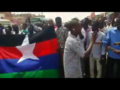 طلاب UPF يتظاهرون في الشوق ليبيا  تنديدا لمقتل الطلاب المتكررة في السودان 1