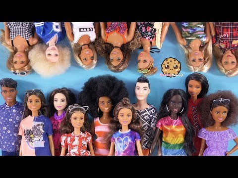giant-barbie-doll-haul-!-box-of-tall,-petite,-curvy,-ken-fashionistas-dolls