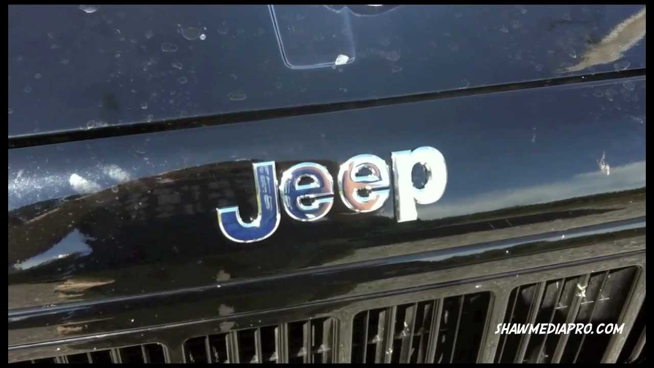 Black Grand Cherokee >> Install of Jeep Emblem on Jeep - YouTube