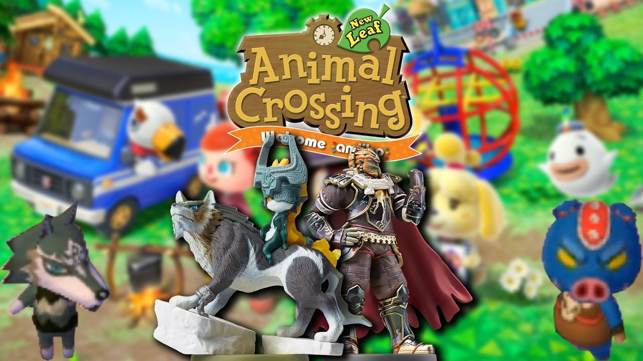 Amiibo Crossing Summoning Wolf Link And Ganon In Animal Crossing New Leaf Welcome Amiibo